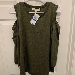 MICHAEL Michael Kors Cold Shoulder Top Size XL